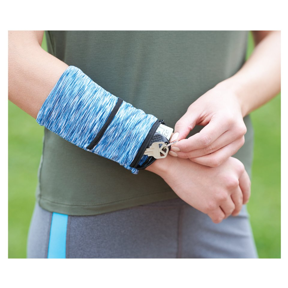 Cooling Heathered Wristband with Pocket