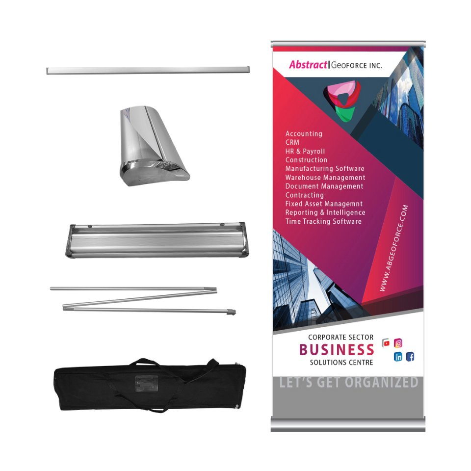 Retractable Banner with Graphics, Stand and Bag